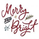 664739 - Sizzix Thinlits Die Set 6PK - Merry & Bright - by Tim Holtz